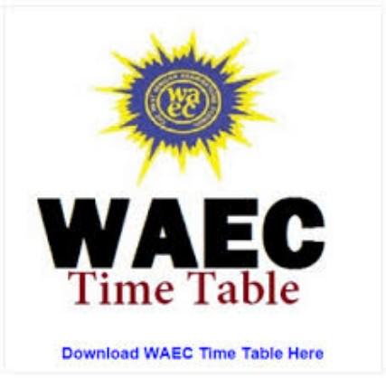 Waec Gce 2021 timetable pdf free
